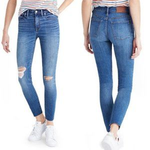 "MADEWELL 9"" High Rise Skinny Crop Distressed Bruce"